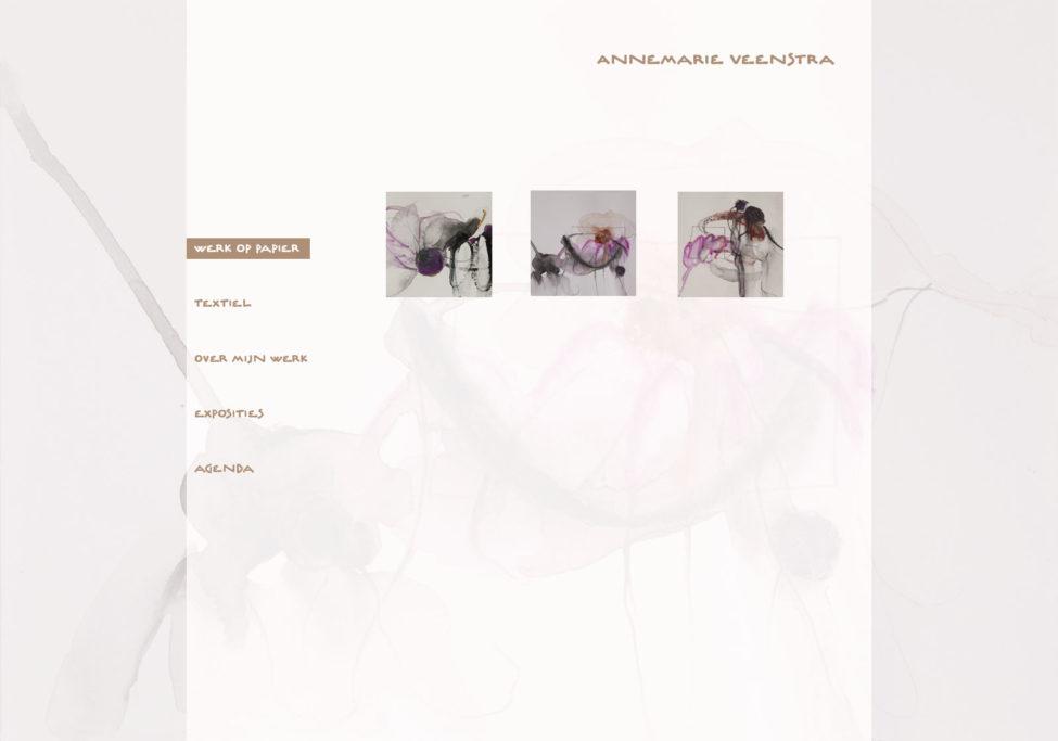 Ontwerp Website Annemarie Veenstra, Beeldend Kunstenaar Te Leeuwarden, 2012. Voorbeeld Tekeningen Gallery.