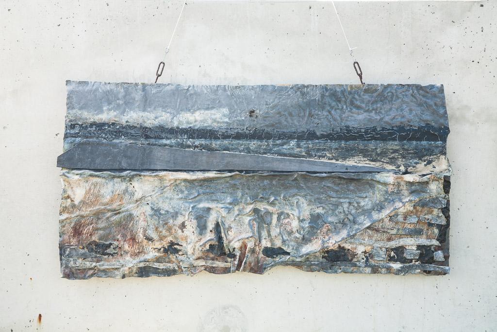 Yolan Brantjes: Landschap, 2010. Gemengde Techniek Met Lood, ± 35 Cm Hoog.v