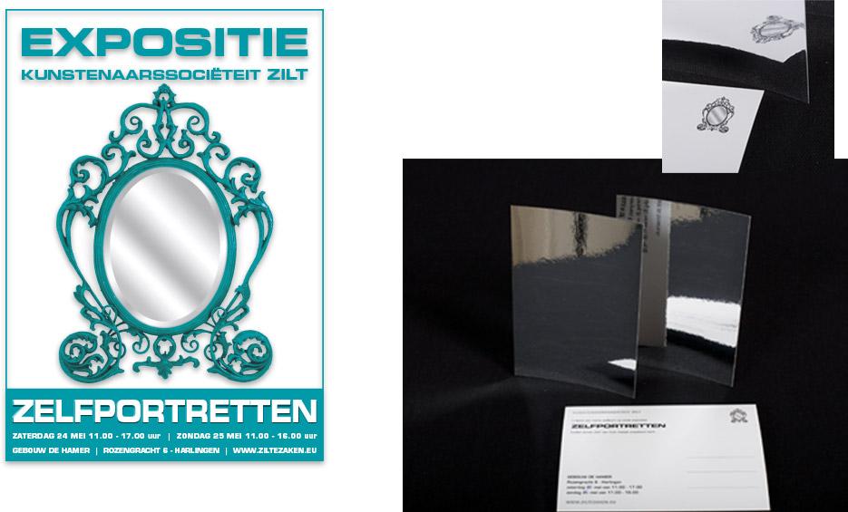 """Zilt Expo 2013 """"Zelfportretten"""" - Advertentie En Uitnodiging"""
