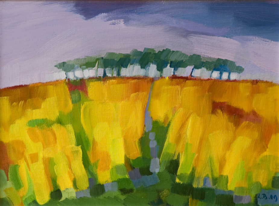 Lily Berger: Landschap, Olieverf, ± 70x100 Cm